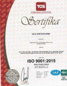veri Kurtarma sertifika