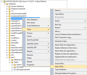 selectingexportdatainobjectexplorer 300x259 - selectingexportdatainobjectexplorer